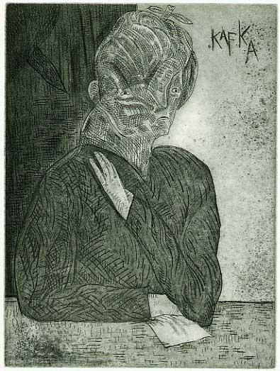 Franc Kafka PrtKafka1984etch